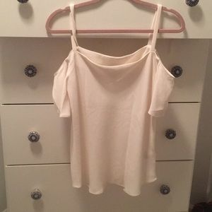 Off the shoulder white blouse - Ann Taylor